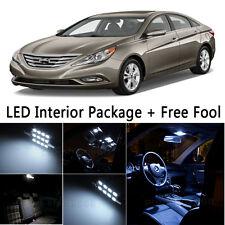 7 Bulb Car LED Interior Lights Package kit For 2011-2014 Hyundai Sonata White NQ
