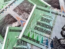 ZIM 50 TRILLION DOLLARS ZIMBABWE AA 2008 P90 UNCIRCULATED USA FAST SHIP TRACKING