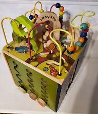 Zany Zoo Wooden Activity Cube Great condition, sanitized
