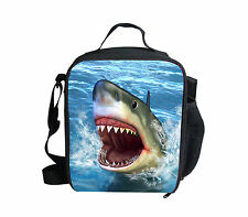 Cool Shark Kids Boys Insulated Back to School Lunch Box Sandwich Cooler Bag Gift