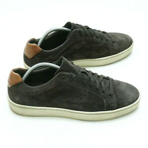 Vince Mens Casual Sneakers Gray Suede Lace Up Size 11M
