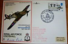 More details for 1970 raf sc29 air chief marshal keith park signed battle of britain flown cover