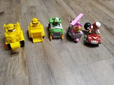 Paw Patrol Vehicle LOT Of 5 Racers RYDER sky rubble rocky NEW and used SHIPS $0
