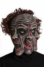 Tri face Wrinkles Evil Clown Mask separate jaw piece for realistic  movement