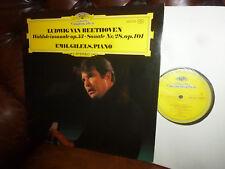 Beethoven Waldsteinsonate op 53, Sonate No 28 Emil Gilels, DG 2530 253 LP 1972