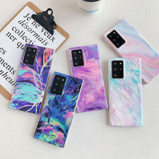 Case For Samsung Note 20 Ultra S20 Plus S10 Lite Colorful Marble Silicone Cover
