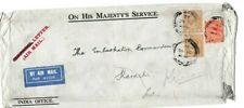 GB 1932 AIR MAIL OFFICIAL COVER TO MILITARY EMBARKATION COMMANDANT INDIA 66*2