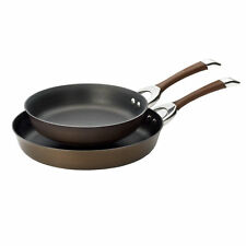 Circulon Symmetry Chocolate - Twin Pack 10-Inch and 12-Inch French Skillets,