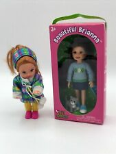 """Set of 2 TY Lil Ones Beautiful Brianna 4"""" Doll NEW in box and Red Haired Doll"""