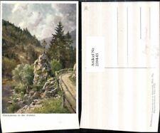 239445,Künstler AK Hugo Darnaut Glückskreuz in d. Walster b. Mariazell