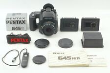 [ N MINT++ ] Pentax 645NII + SMC A 75mm f/2.8 +120 Back x 2 + Release From JAPAN