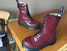Dr Martens Aggy 1490 cherry red boots UK 6 EU 39 punk skin patent jadon retro