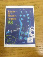 1998 World Cup: Official Postcard - Host City - Nantes (MU10). Bobfrankandelvis