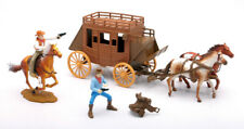 """BIG COUNTRY WESTERN COWBOY WITH HORSE SET BY NEW RAY 38035B FIGUERS ABOUT 3""""TALL"""