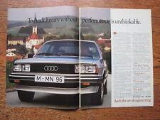 Audi 5000, Turbo, Quattro, Coupe, 4000 Advertising Print Ad 1983
