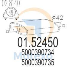 MTS 01.52450 Exhaust RENAULT Trafic I 2.1 Diesel 59bhp 03/89 - 07/91