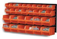 32 Piece Plastic Mounted Wall DIY Tool Organiser Storage Bin & Board Set Garage
