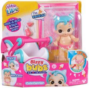 Little Live Bizzy Bubs Peek-A-Boo Baby Swirlee With Carrier, Bottle, Pacifier