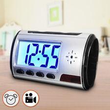 Mini Spy Hidden Camera Alarm Clock Micro Nanny Cam Motion Detection DV DVR Video