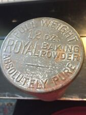 ROYAL BAKING POWDER TIN 12 OZ FULL WEIGHT NICE CONDITION FOR AGE VINTAGE