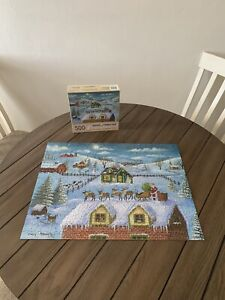 Bits and Pieces 500 Piece Winter Chrstimas Jigsaw Puzzle - A Visit From Santa