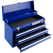 AREBOS Boîte à Outils 3 Tiroirs Servante Caisse à Outils d'Atelier Bleu