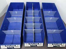 3 Fastener Bolt Screw Nut Parts Tray Bin Storage Cabinet Holder Blue
