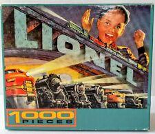 Lionel Trains Jigsaw Puzzle Retro 1000 pc Made in USA Art Deco Train Collectors