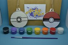 Paint Your Own Pokemon Pokeball Hanging Decoration Kit Birthday Gift Activity