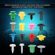 500Pcs Assorted Car Door Trim Clips Bumper Fastener Retainer Rivets Push Pin Kit