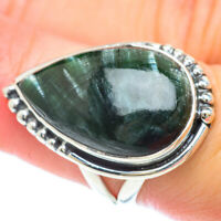 Seraphinite 925 Sterling Silver Ring Size 7.25 Ana Co Jewelry R56712F