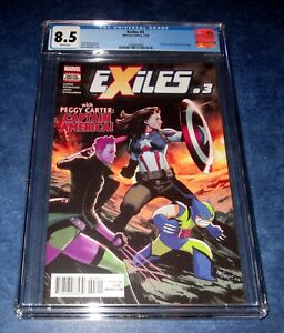 EXILES #3 CGC 8.5 1st print MARVEL 2018 1st appearance PEGGY CATER as CAP AM NMM