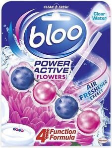 Bloo Power Active Toilet Rim Block Fresh Flowers 1x 50g Pack of 1 FREE DELIVERY