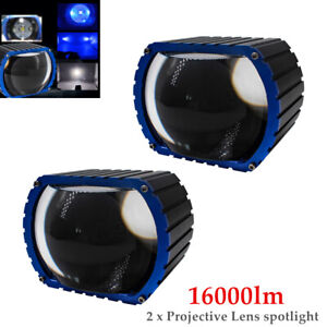 16000LM LED Car High Beam Projective Lens Headlamp Fog Lamp Spotlight 2PCS/Set