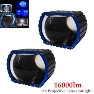 16000LM LED Car High Beam Projective Lens Headlamp Fog Lamp Spotlight 2PCS/Set