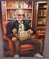 Stan Lee & Baby Groot Glossy Art Print 11 x 17 In Hard Plastic Sleeve