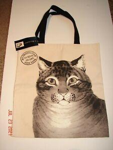 "METROPOLITAN MUSEUM OF ART ""THE FAVORITE CAT"" Canvas TOTE BAG NATHANIEL CURRIER"