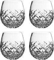 NIB Waterford Crystal Eastbridge Stemless Red Wine Whiskey Glass Tumbler 4pc