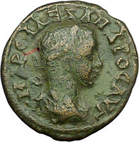 SEVERUS ALEXANDER 222AD Nicaea LEGIONARY STANDARDS Ancient  Roman Coin  i34381