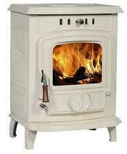 7KW Cream Enamel Lilyking 627 Multi Fuel Boiler Stove