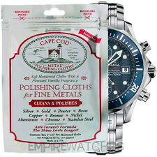 *NEW* CAPE COD FINE METAL POLISHING CLOTH FOR OMEGA WATCHES - PACK OF