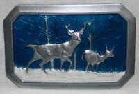 Buck & Deer Metal Belt Buckle, Hunting Gifts