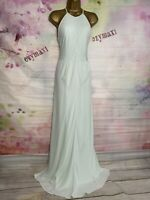 TED BAKER 'CORKIA' LUXURIOUS FULL LENGTH PALE GREEN MAXI GOWN DRESS SIZE 4 UK 14