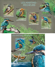 Kingfishers Birds Eisvogel Vögel Animals Fauna Central Africa MNH stamp set