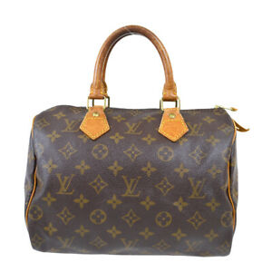 LOUIS VUITTON SPEEDY 25 HAND BAG PURSE MONOGRAM CANVAS M41528 91675