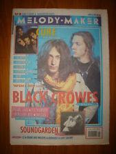 MELODY MAKER 1992 APR 18 BLACK CROWES CURE U2 L7 SEAM