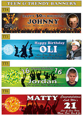 4ft Personalised Celebration Party Banner for Teenage Boys with Name & Photo On