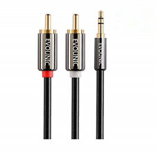3FT 6FT 9FT 3.5mm Aux Male Jack to AV 2 RCA Stereo Audio Cable MP3 iPod Phone