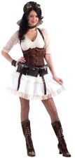Steampunk Sally Women's Costume Adult Std Skirt Corset Garters Blouse Ivory New