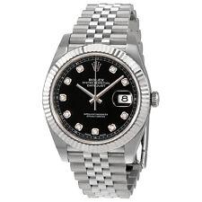 Rolex Datejust Black Diamond Dial Automatic Mens Jubilee Watch 126334BKDJ
